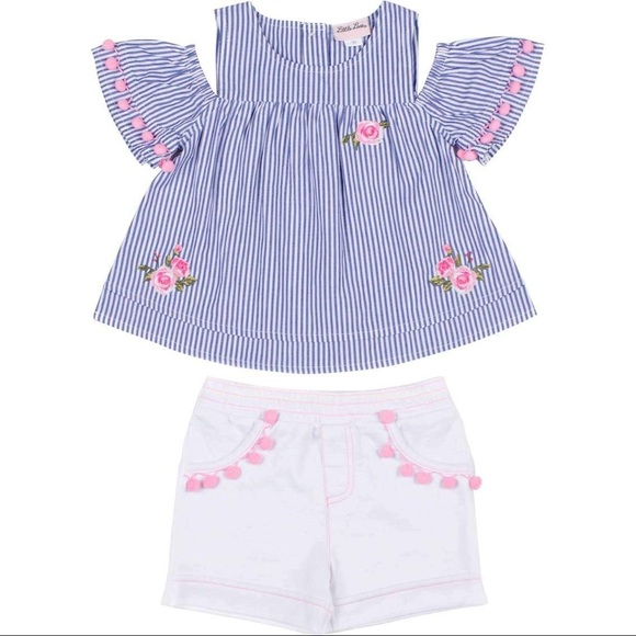 Little Lass Cold Shoulder & French Terry Short